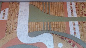 Корковите тапи в художествено пано